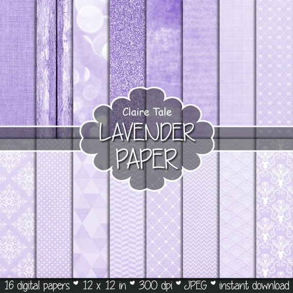 "Purple digital paper: ""LAVENDER TEXTURES"" with lavender linen, glitter, bokeh, wood, crosshatch, damask, lace, triangles, polka dots etc"