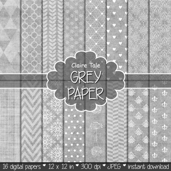Grey digital paper, Grey paper digital, Grey digital background, Grey digital pattern, Grey backgrounds, Grey scrapbooking, Grey printable