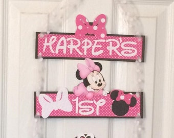 Minnie Mouse door banner, minnie mouse  Door Sign, Minnie door sign, Minnie Mouse party sign, Minnie  birthday decorations, party decoration