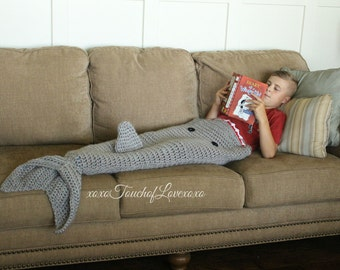 Knitting Pattern For A Shark Blanket : Killer whale tail Etsy