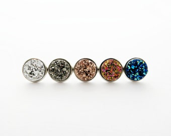 Druzy Post Earrings - Choose Your Color
