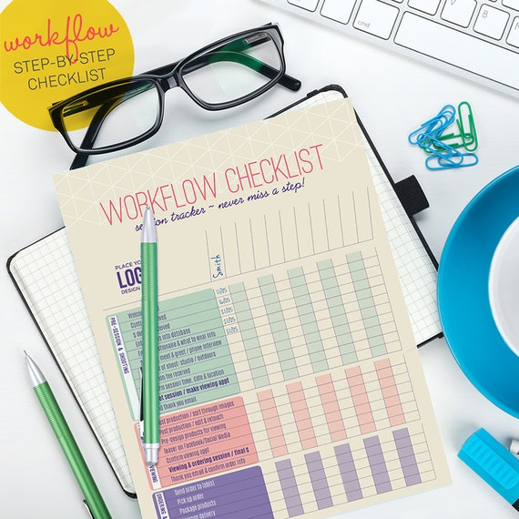 Checklist Template Psd Workflow Checklist. Planning and Organizational Form - Photoshop Template for photographers (WKF03) -