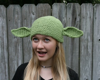 Star Wars Inspired Yoda Hat - Newborn to Adult Sizes