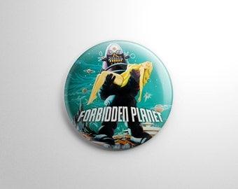 Sci Fi - Forbidden Planet Button / Keychain