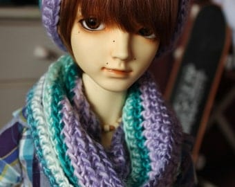 BJD SD baggy beanie & Loop scarf Multi color set (In stock)