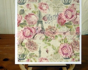 Sale ladies Large Pink Shabby Chic Cards