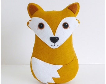 Fox PDF Sewing Pattern and Tutorial, Instant Download, Easy Step-by-Step Instructions