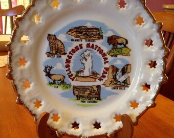 Nice Embellished Ceramic Collectable Yellowstone National Park