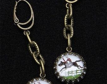 """Earrings """"jumpers"""" reversing painting miniatures"""