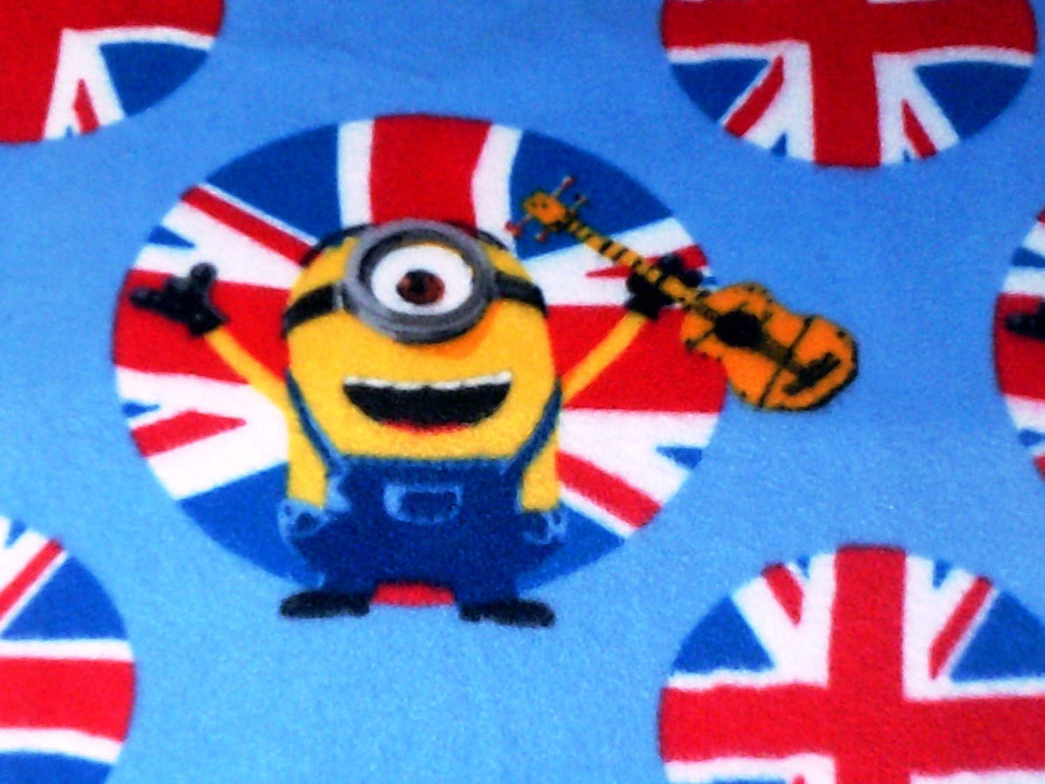 Minion Stuart With Guitar Minions Stuart Fleece Throw
