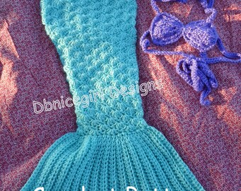 Mermaid Costume 4 Piece Set Crochet Pattern