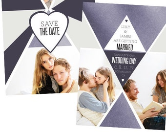 Save the Date Engagement Template-Digital Download - E18