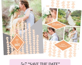 Save the Date, Boho Engagement Announcement - Digital Download - E2