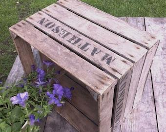 Vintage Wooden Apple Crate