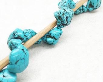 Tibetan Turquoise Bead 20-22mm