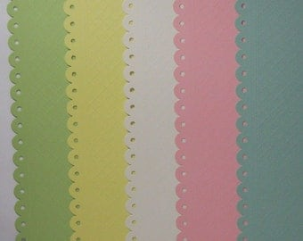 "Creative Imaginations ""quilted"" EYELET Scrapbook Paper Baby 12""x12"" 10 Sheets"