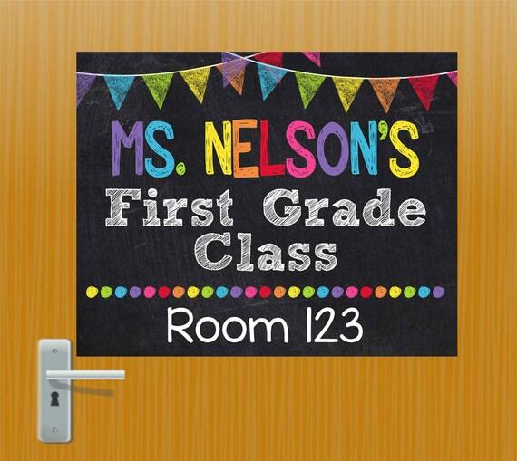 Free Classroom Decoration Templates ~ Teacher door sign personalized classroom