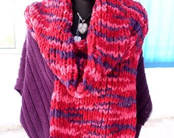 scarf, shawl, chunky scarf, chunky, handknitted