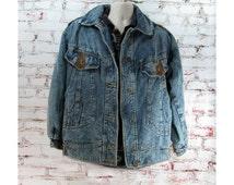 men's denim coat,men's winter coat, men's outerwear, men's warm coat, size men's medium  # 161