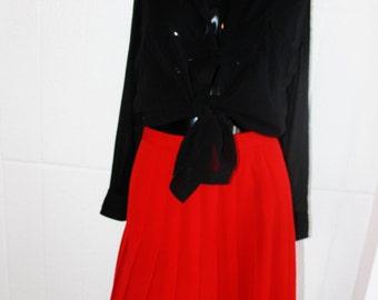 Vintage Paul Stanley Wool Pleated Skirt