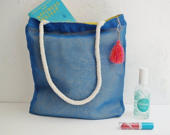 Customized tote bags wedding destination / jute totes / cancun weddings on the beach / welcome bag mariage