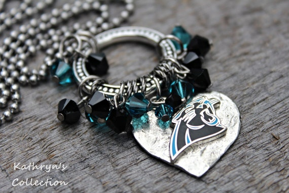 carolina panthers necklace panthers jewelry. Black Bedroom Furniture Sets. Home Design Ideas