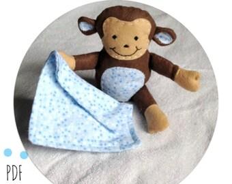 Baby Monkey Softie PDF Sewing Pattern