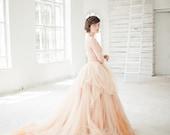 Nude tulle wedding skirt // Peony
