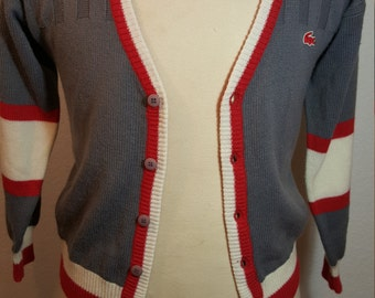 FREE  SHIPPING Vintage Izod Cardigan Sweater