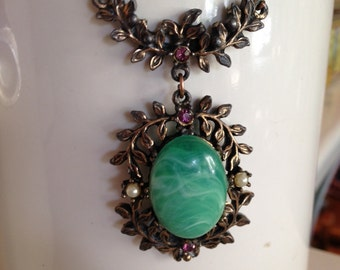 Vintage Victorian Inspired Pendant Necklace