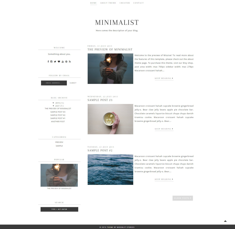 Wunderbar Minimalistische Blog Vorlagen Fotos ...