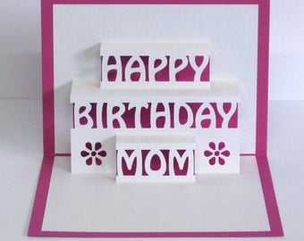 happy birthday mommy  etsy, Birthday card