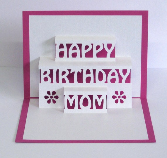 Mom Birthday Card 3D Pop Up Happy Birthday Mom Card – Happy Birthday Pop Up Cards