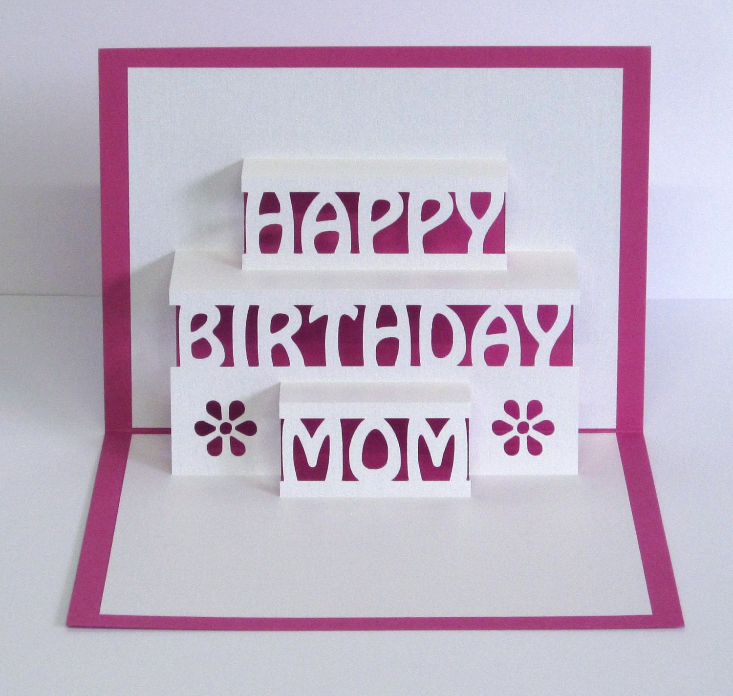 Mom Birthday Card 3D Pop Up Happy Birthday Mom Card