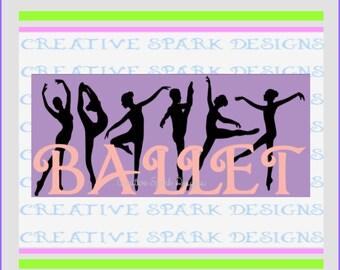Ballet Landscape Wall Art SVG Project Download