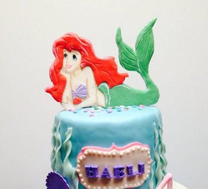 Little Mermaid Cake Decorating Kit Topper : Little Mermaid Ariel Cake Topper