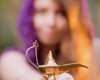 Jeanie bottle - Accessories Decoration Oil Lamp Genie Torch Aladdin Beautiful Brass Bottle