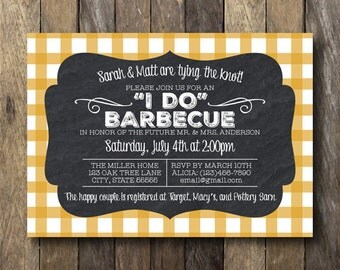 I Do Barbecue Invitation - Printable Engagement Shower Invitation - I Do BBQ - Engagement Barbecue Invite - I Do Barbeque