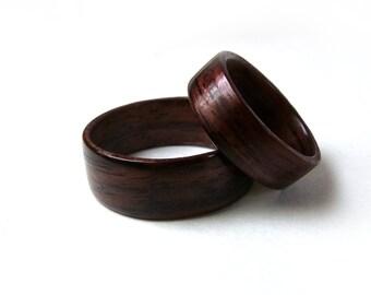 Rosewood Ring Set, Bentwood Ring Set, Handmade Ring Set, Wood Ring Set, Wood Ring Pair, Pair of Rings, Wooden Rings, Bentwood Rings