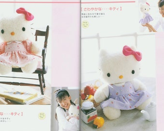 Hello Kitty & Friends 24 Plushies Soft Toy Teddy Sewing Patterns Craft Japanese Ebook PDF Instant Download