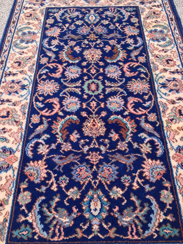 3x5 Rug Karastan Rug 747 Indigo Tabriz Gorgeous Blue Ivory