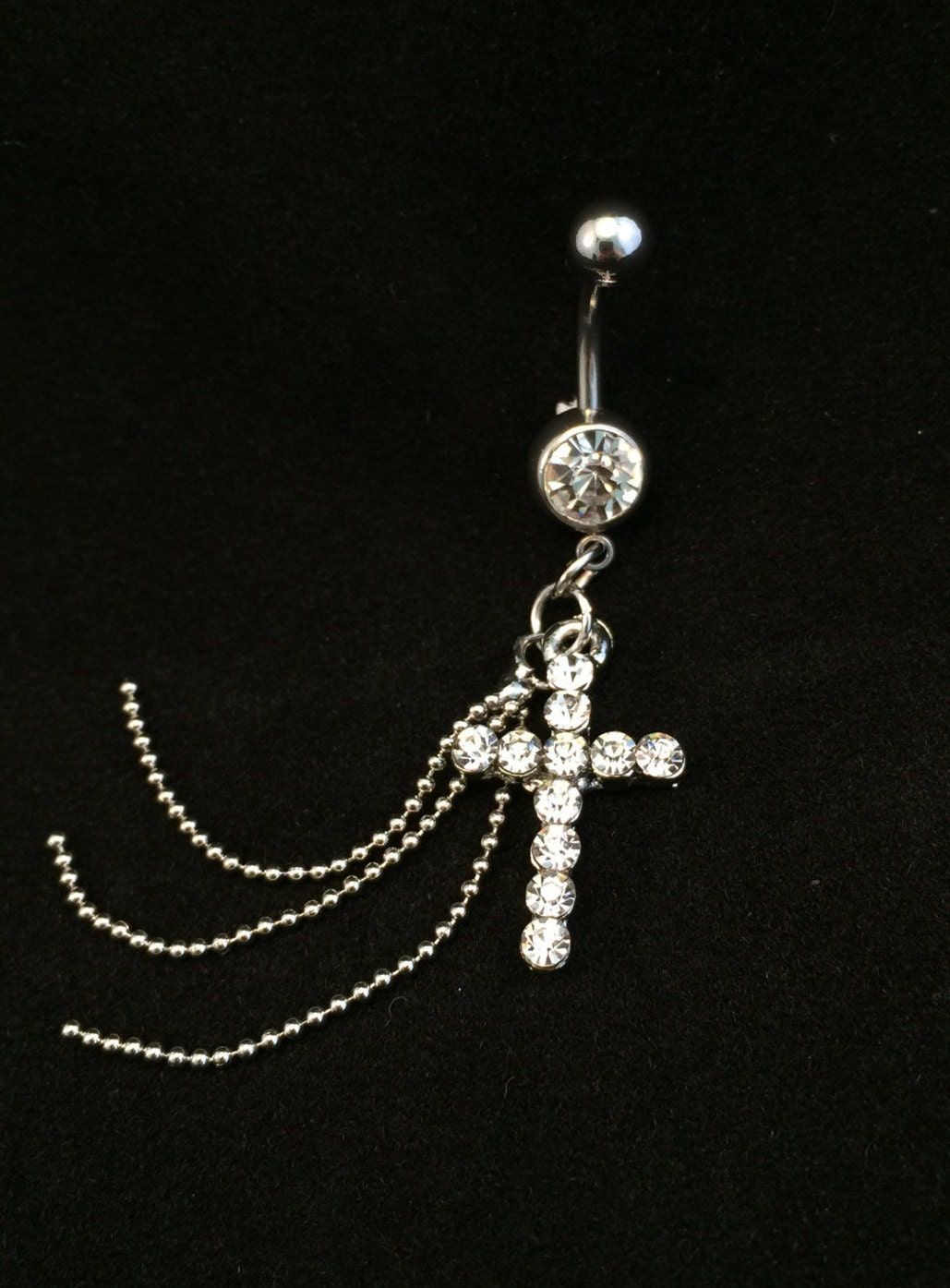 Cross belly button ring-4059