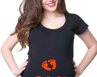 Maternity Top Halloween Tee Shirt Gift For Pregnant Woman Tee Shirt