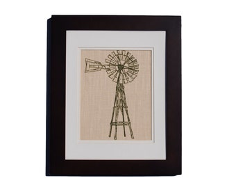 Country Home Decor - Old Fashion Windmill Wall Art Print - Farmhouse Art - Rustic Home Decor - Country Farm Decor - Country Wall Hanging