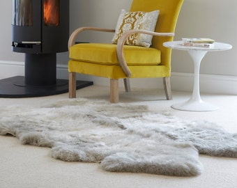 Huge Sheepskin Rug Stunning ivory luxury long haired quad sheepskin rug