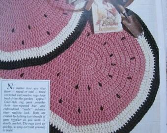 Crochet Pattern - Watermelon Rug - However You Slice It - Vintage