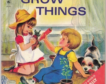 Let's Grow Things by Iris Tracy Comfort 1967 Rand McNally Elf Book