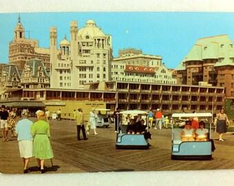 Vintage N. J. Postcard Rolling Chairs Atlantic City NJ 1968