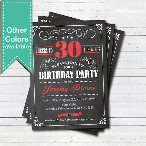 invitation de tableau anniversaire 30 bravo 30 ans retro. Black Bedroom Furniture Sets. Home Design Ideas