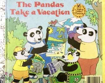 The Pandas Take A Vacation Big Little Golden Book